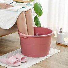 Seau en plastique pour les pieds, baignoire, salle