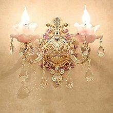 Sebasty Lampe De Mur En Cristal En Alliage De Zinc