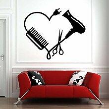 Sèche-cheveux Stickers Muraux Salon De Coiffure