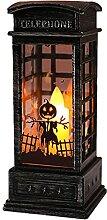 secruk Halloween Lanterne Flamme Bougeoir Lampe À