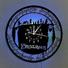 Seigneur des Anneaux Horloge Murale Disque Vinyle