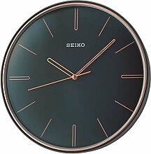 Seiko Horloge Murale Noire en Plastique avec