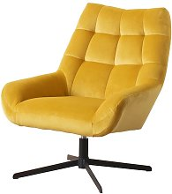 Selsey SHERLEY - Fauteuil pivotant (tissu velours