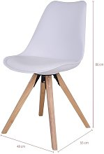 Selsey UMBRETA - Chaise scandinave / Chaise salle