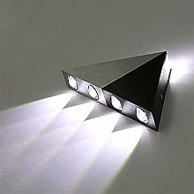 Sematrou Wall Light en aluminium brillant Triangle