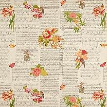 Semi panama Aspect lin Notes & papillons –