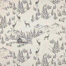 Semi panama Cerf en montagne – nature/gris —