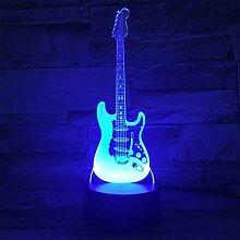 Série guitare électrique 3d petite veilleuse