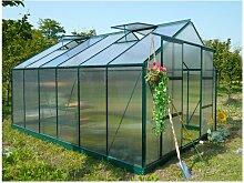 Serre de Jardin en polycarbonate de 13m² KALIDA