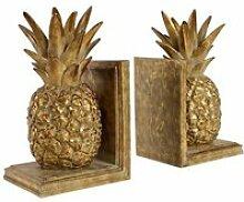 Serre livre ananas doré 15x12x26 cm