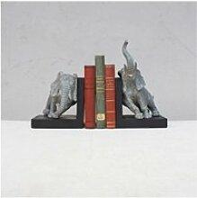 Serre-livre éléphant 25x21x31 cm 25 cm Gris