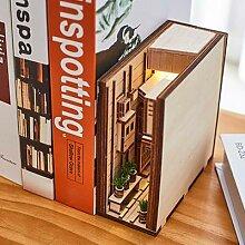 Serre-livres d'art en bois, insertion de coin