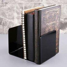 Serre-livres en acrylique noir/blanc, 2 pièces,