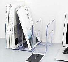 Serre-livres en acrylique transparent, support de