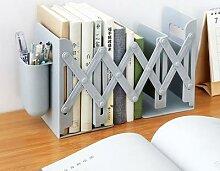 Serre-livres rétractables pour étagères,