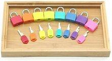 Serrures et clés Montessori avec plateau en