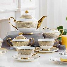 Service à café en céramique porcelaine, service