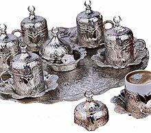 Service à café haut de gamme en métal plaqué
