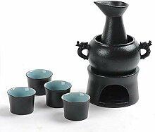 Service à saké 7 pièces - Verres à vin avec