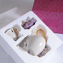 Service à thé avec théière, tasse et tasse