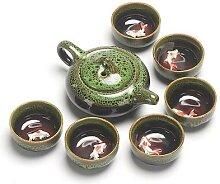 Service à thé chinois Kung Fu, théière en