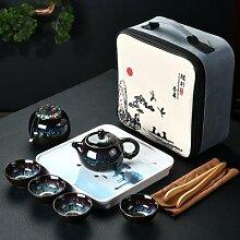 Service à thé de voyage chinois Kung Fu,