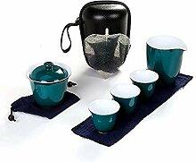 Service à thé de voyage chinois portable en