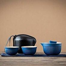 Service à thé de voyage Portable, théière en