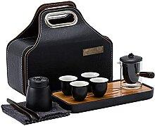 Service à thé de voyage, théière, 4 tasses,