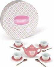Service à thé en céramique : macaron