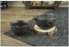 Service à thé en céramique noir comprend 1 Pot