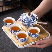 Service à thé en pierre à moudre, avec des