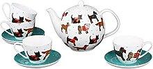 Service à thé en porcelaine anglaise avec