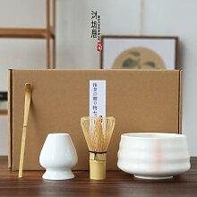 Service à thé japonais en bambou, 4
