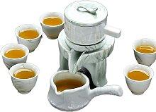 Service à thé Kung Fu en pierre semi-automatique