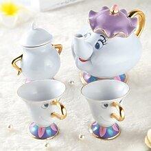 Service à thé «la belle et la bête» pour