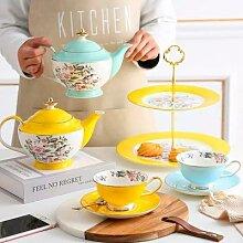 Service à thé pastorale en porcelaine,