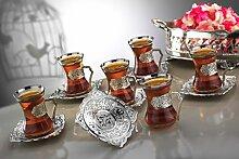 Service à thé plaqué argent pour 6 personnes -