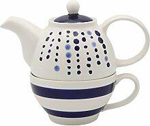 Service à thé pour une personne avec théière