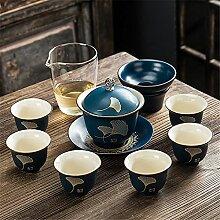 Service à thé traditionnel en céramique avec