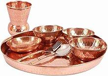 Service de table Thali en cuivre martelé
