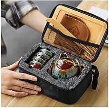 Services à thé Portable Porcelaine Tea de voyage