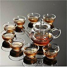 Services à thé Théière en verre transparent
