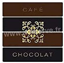 Serviette cocktail jetable intissé Café Chocolat