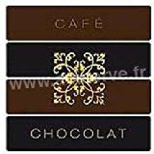 Serviette cocktail jetable intissé Café Chocolat
