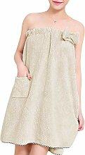 Serviette de Bain Douche Femme Peignoir Robe de