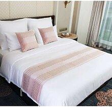 Serviette de lit en velours européenne, décor de