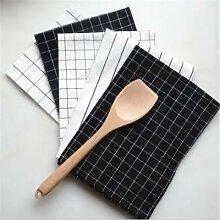 Serviette de Table à carreaux de haute qualité,