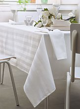 Serviette de table Budapest blanc rayures