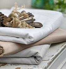 Serviette de table Budapest gris perle rayures